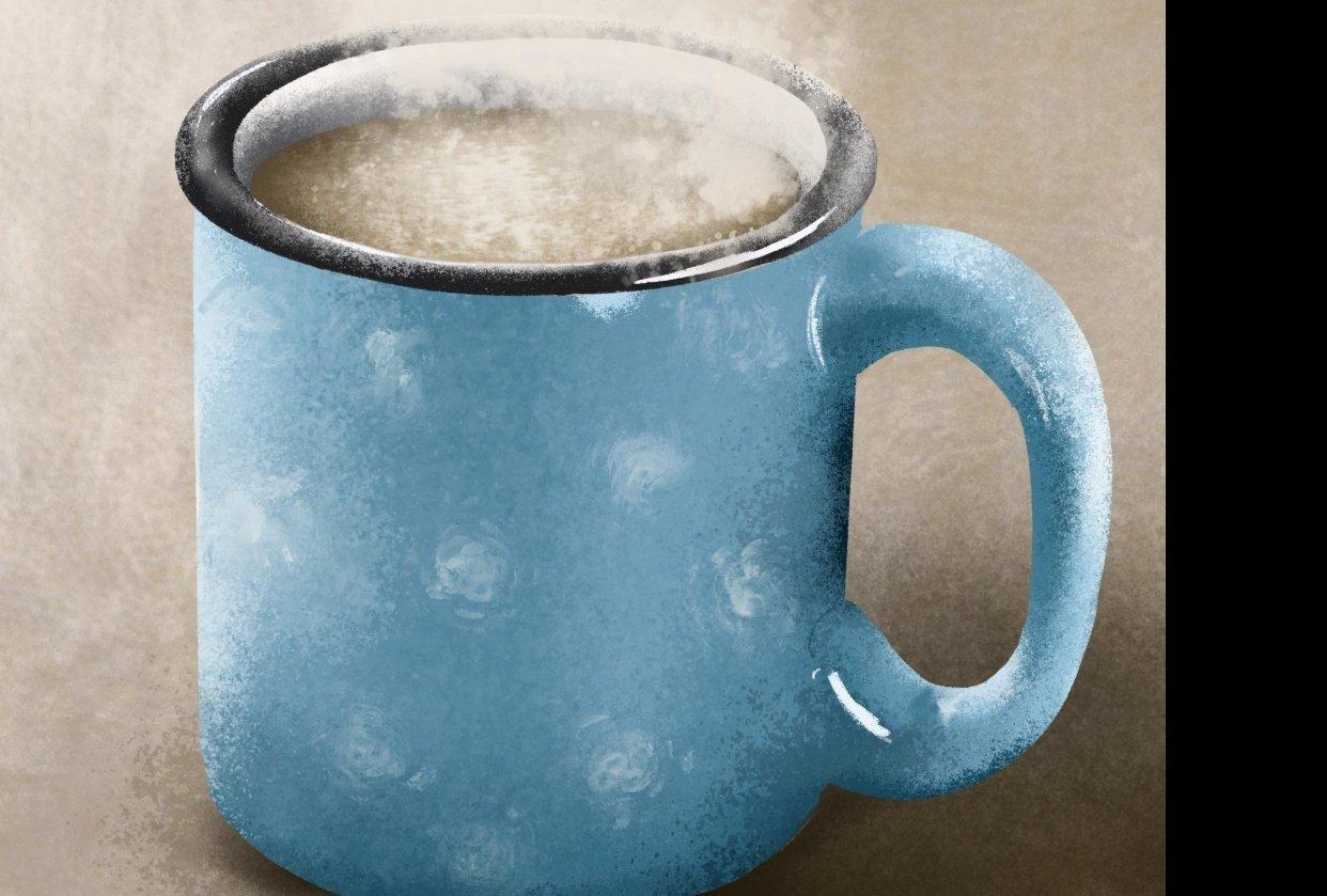 Blue mug - student project