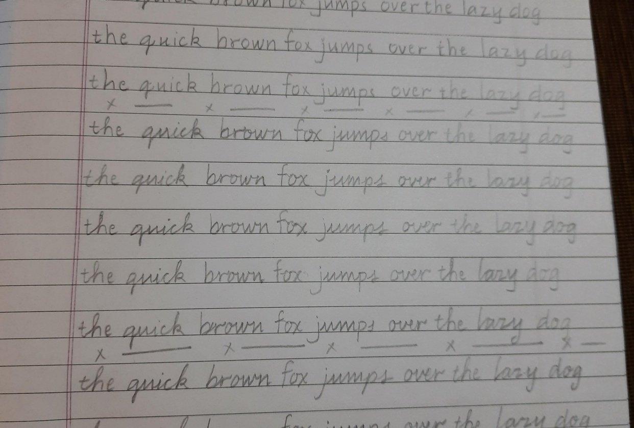 Handwriting of Avinash Jadhav - student project