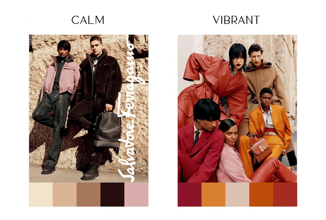 Calm & Vibrant Color Palette - student project