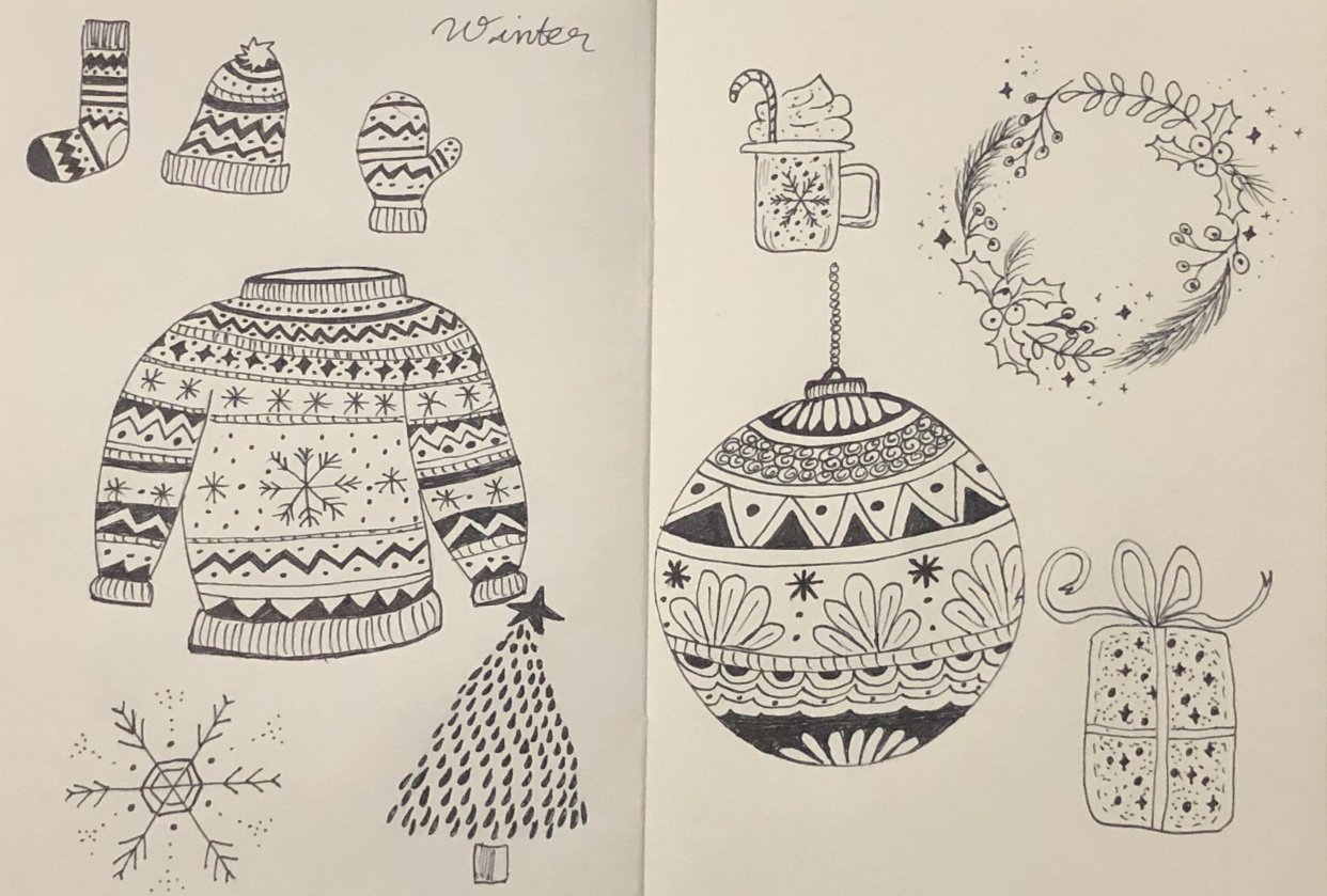 Winter Doodles! - student project