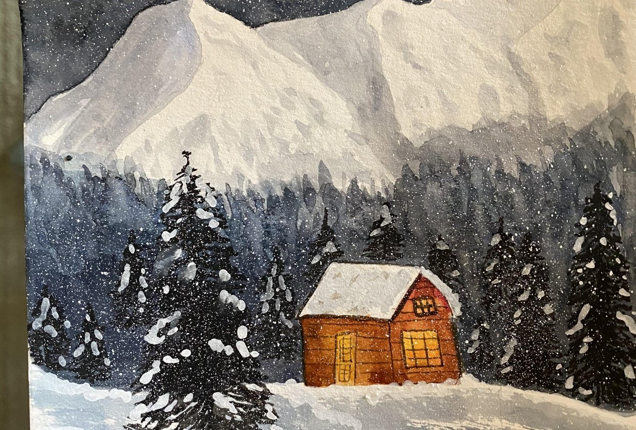 Snowy Night - student project