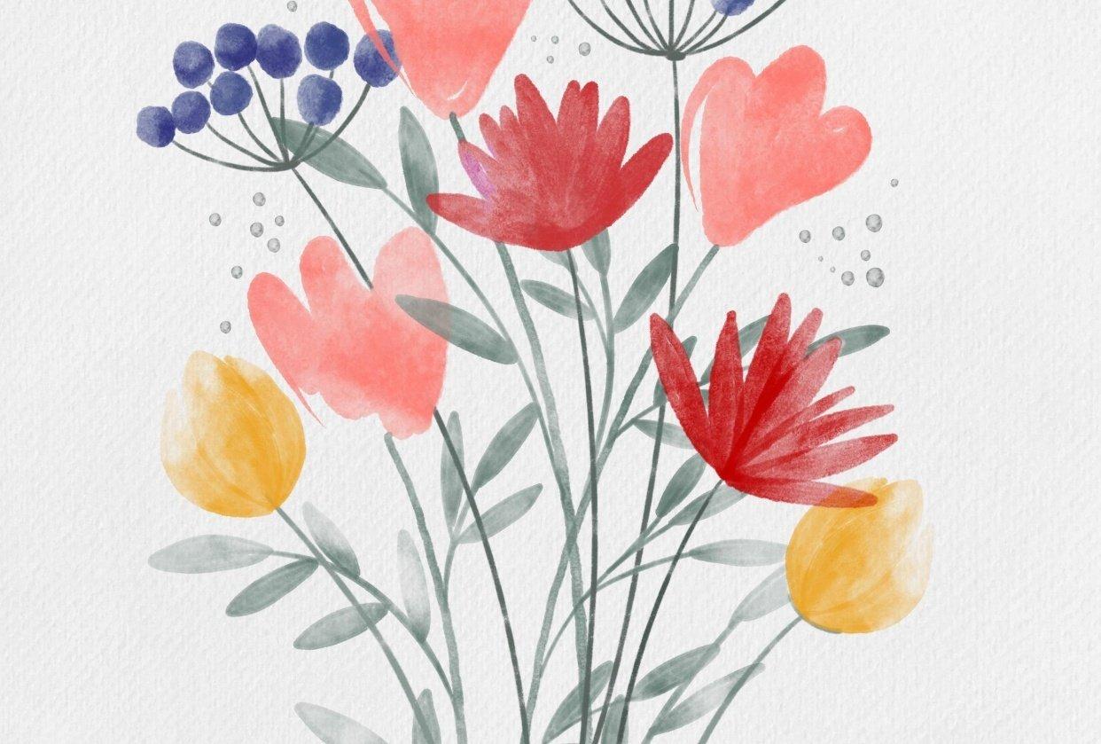 wild flowers garden - student project