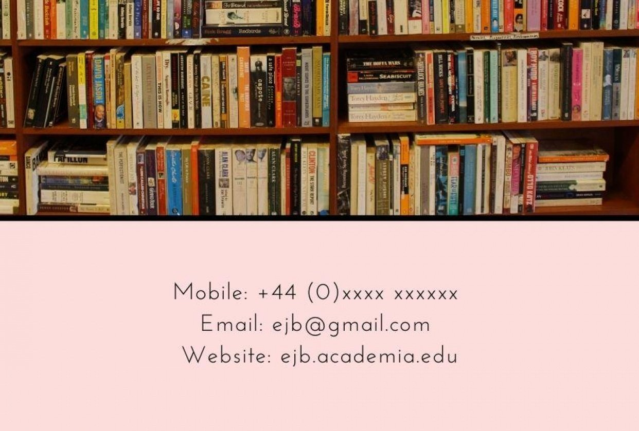 Business Card on Canva - student project