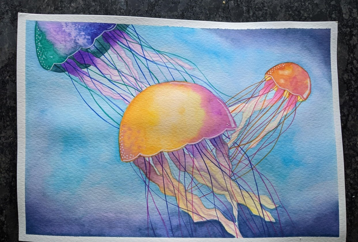 Jelly Fish & Family Galaxy - student project