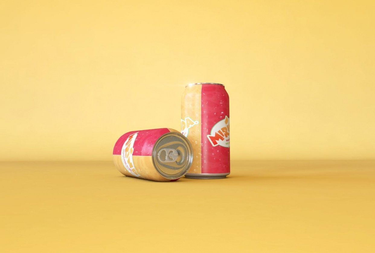 Mirinda Can 3D Visualization - student project