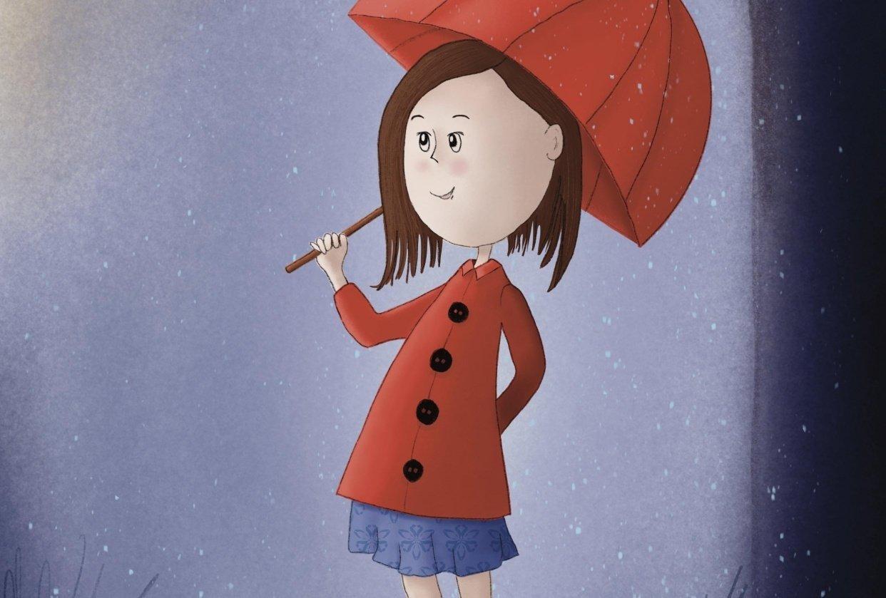 Girl in rain - student project