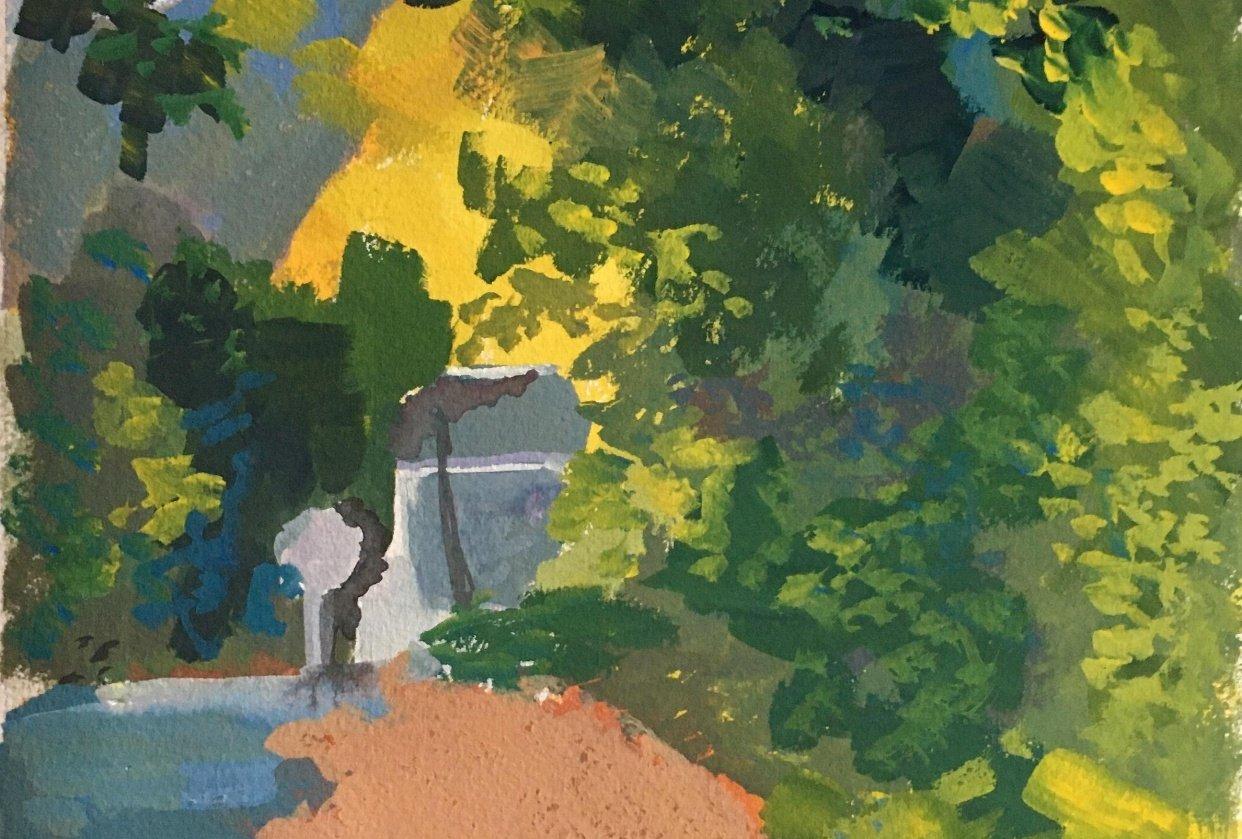 Oak tree shadows - student project
