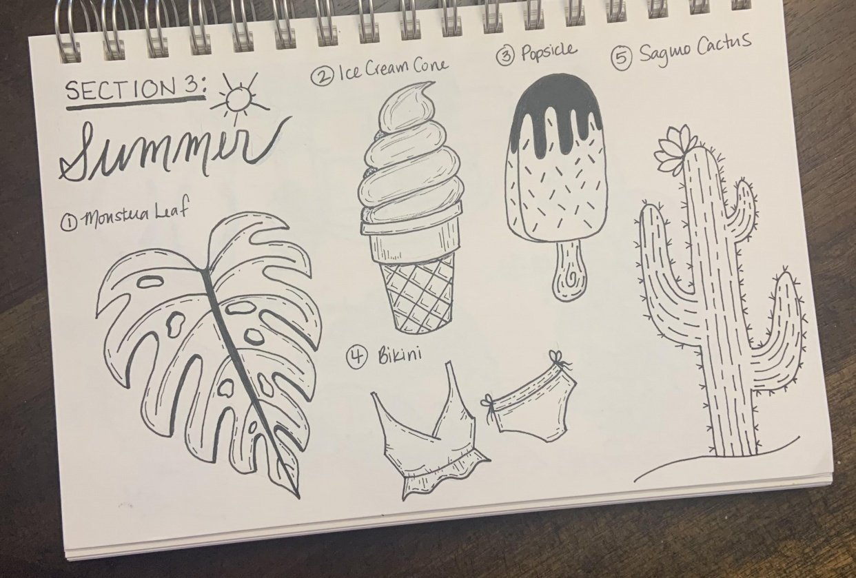 50 Doodles - student project
