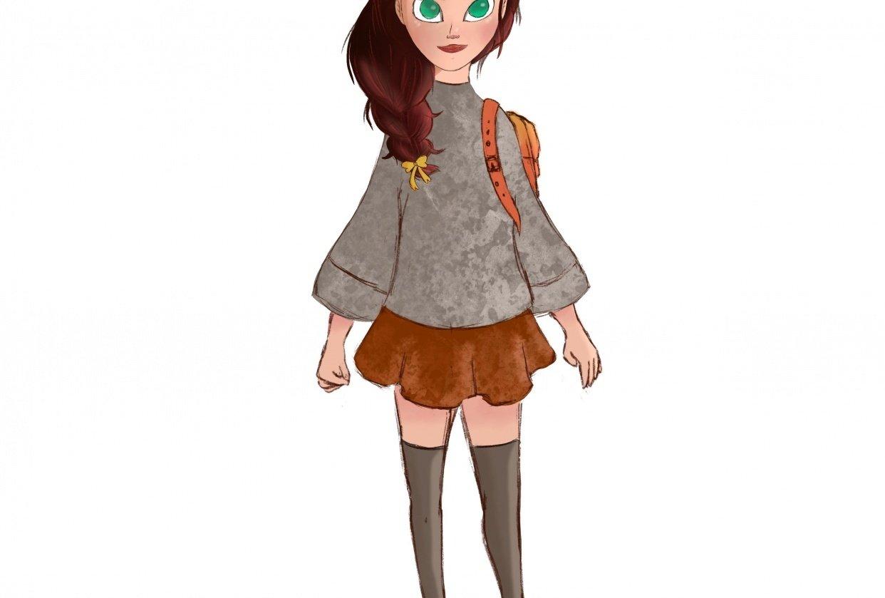 Cartoon Girl - student project