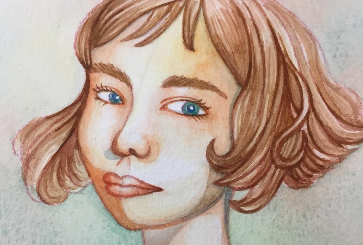 Rainbow Skin Portrait - student project