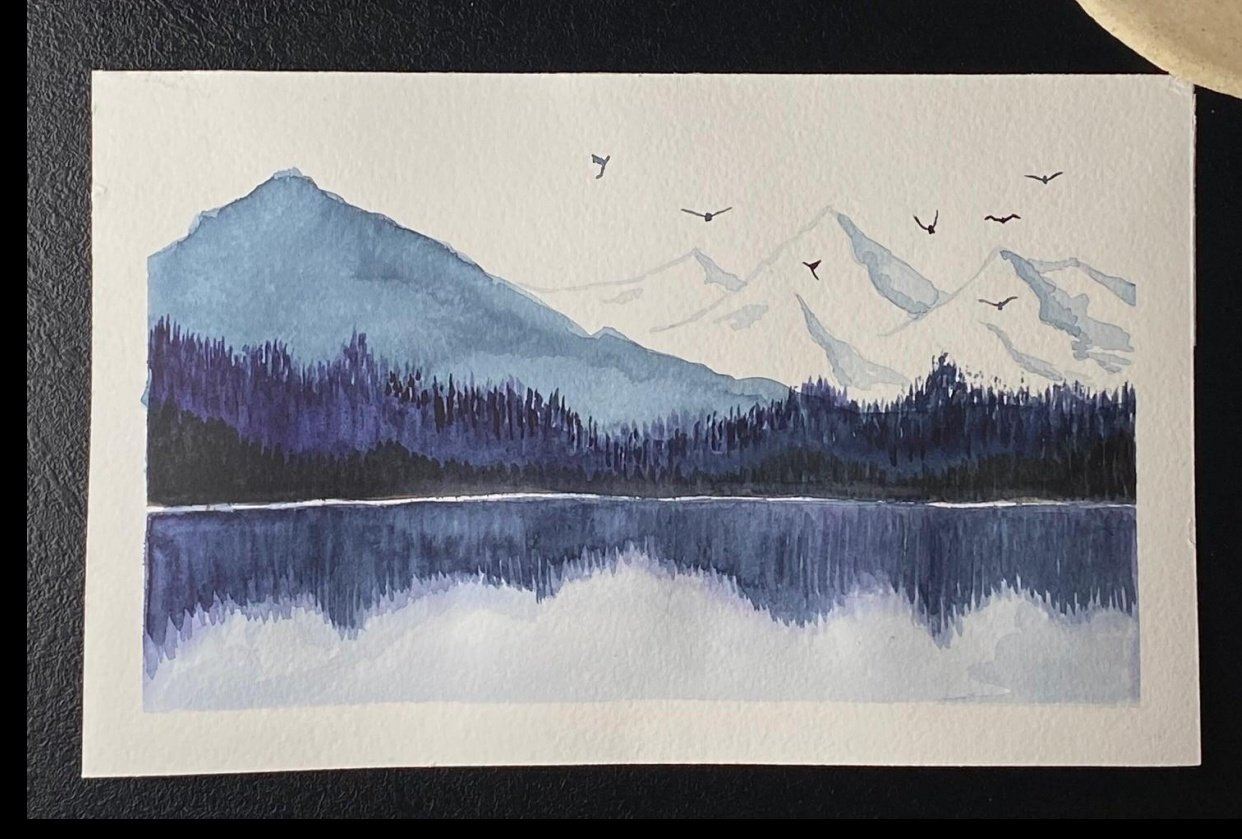 Snowy mountains - student project