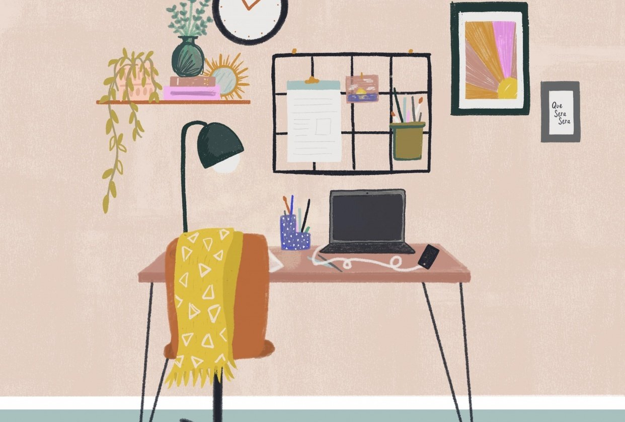 Fun With Spaces: Stylised Scene in Procreate, Charley Clements - student project