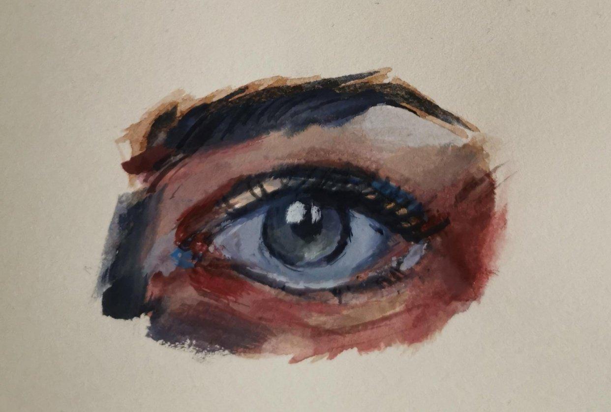Gouache eye study - student project