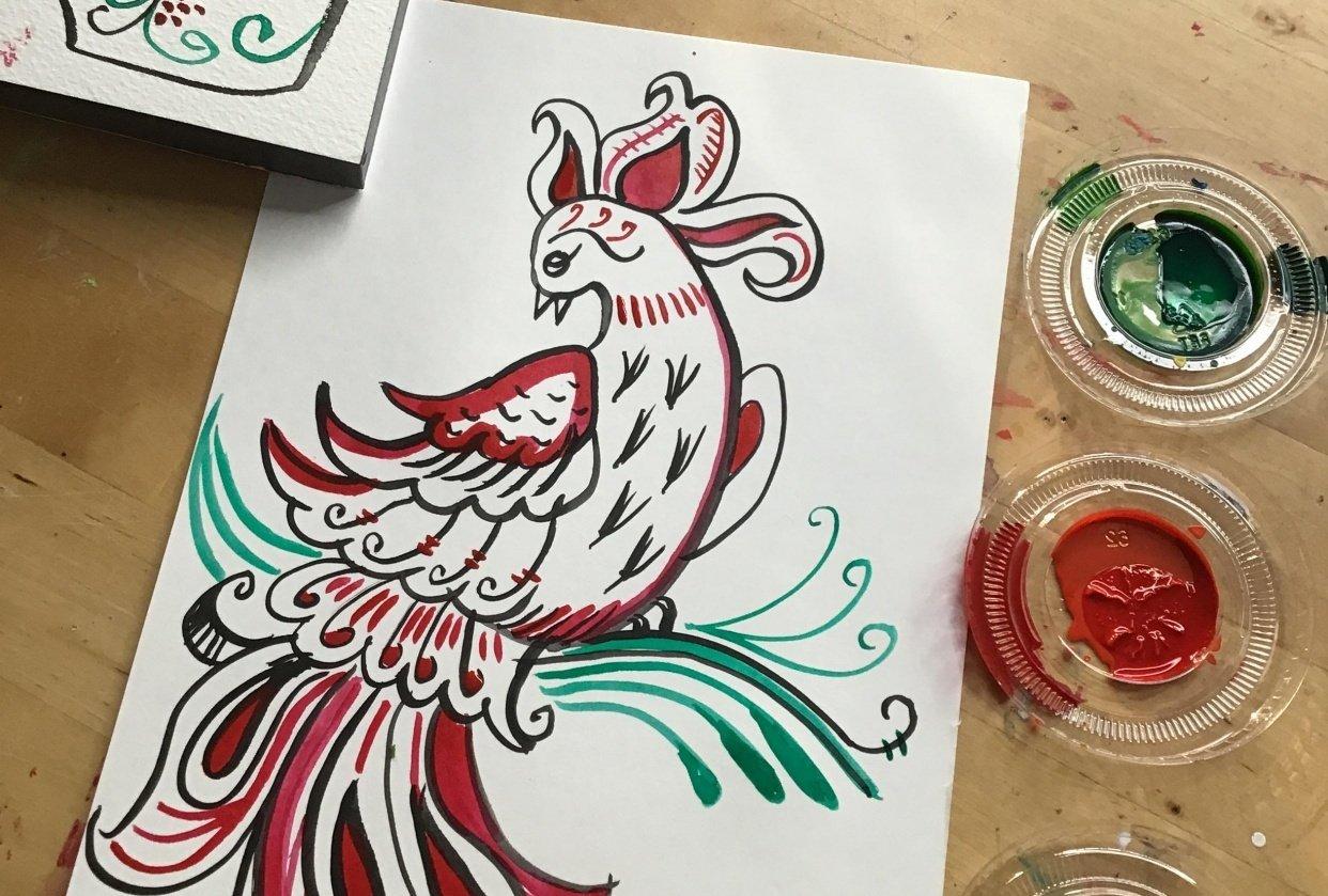 Firebird folk art - student project