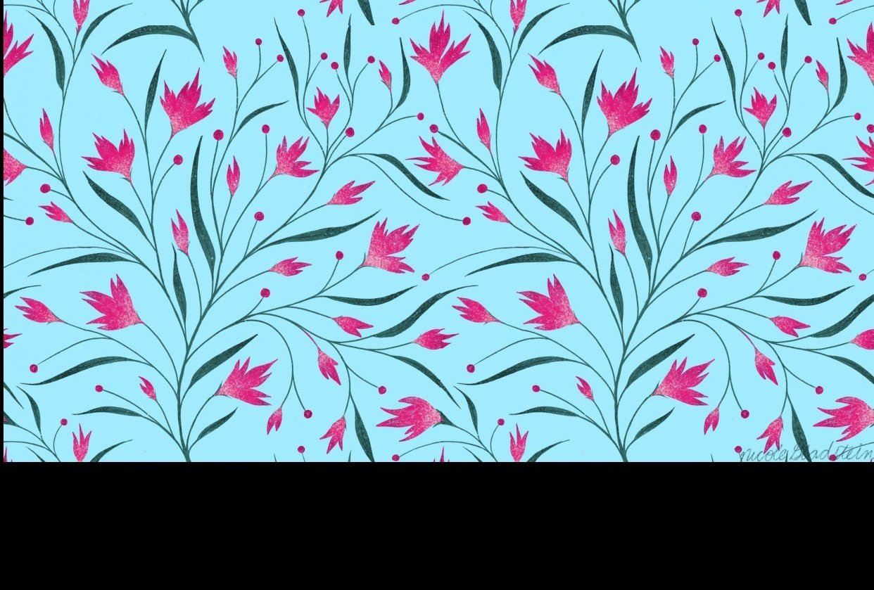 wildflowers repeating pattern - student project