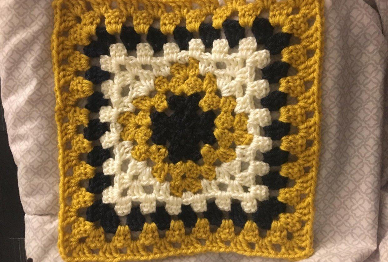 Granny Square Mini Blanket - student project