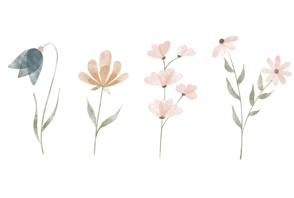 acuarela floral - student project