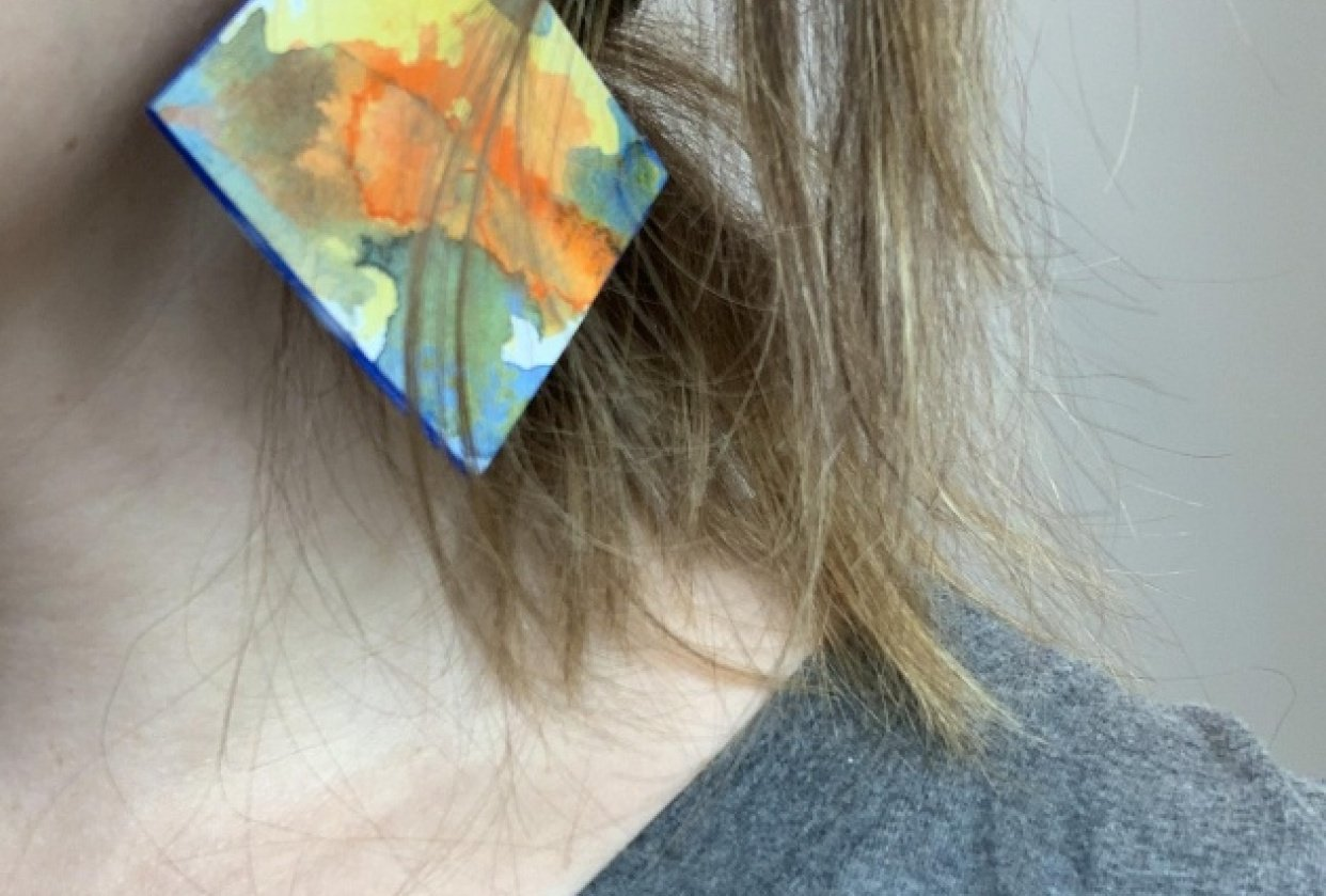 Colorful Earrings - student project