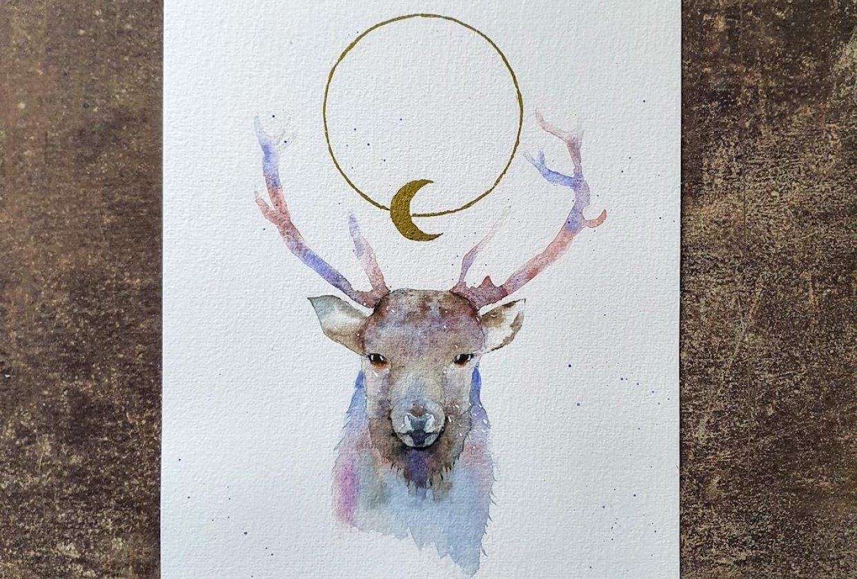 Celestial stag - student project