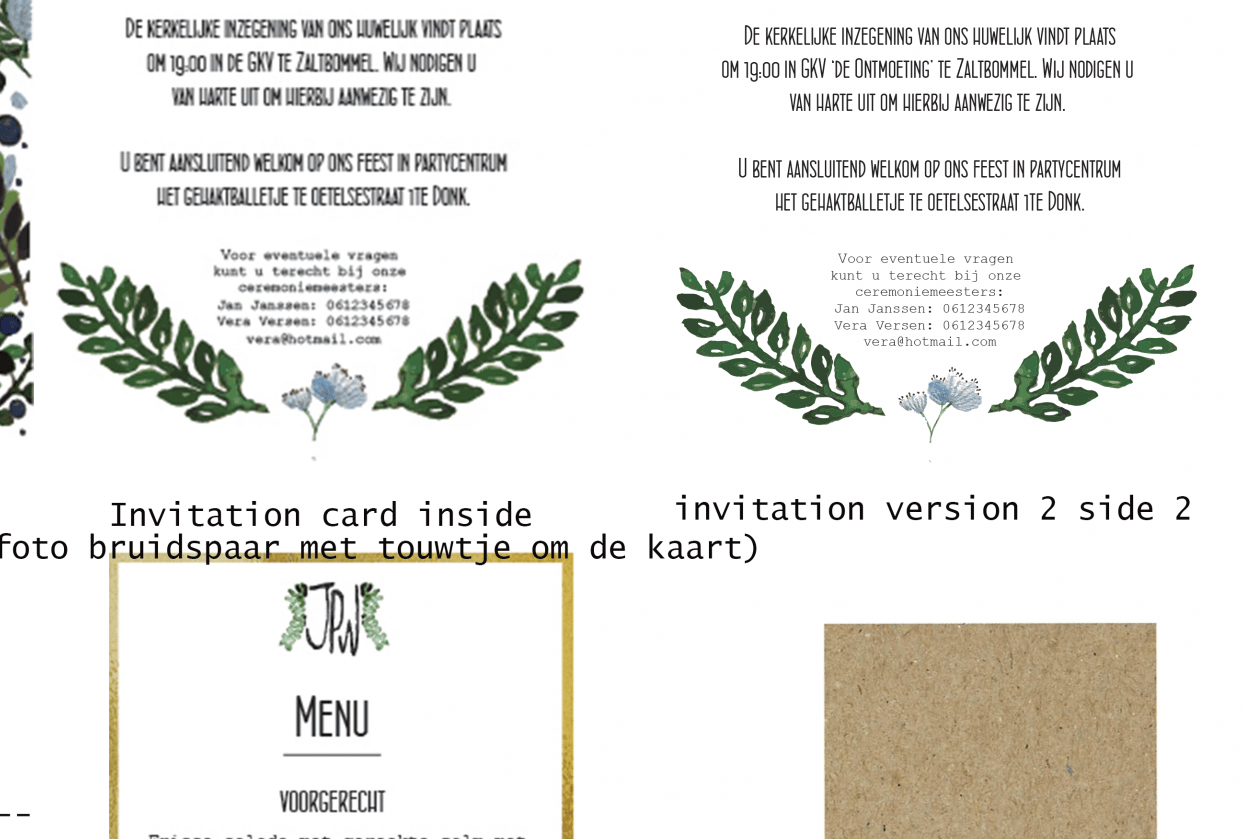 Developing a Wedding Brand Suite - student project