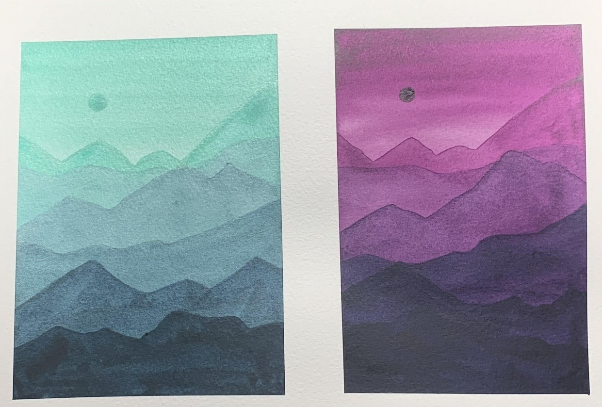 Layered mountains - student project