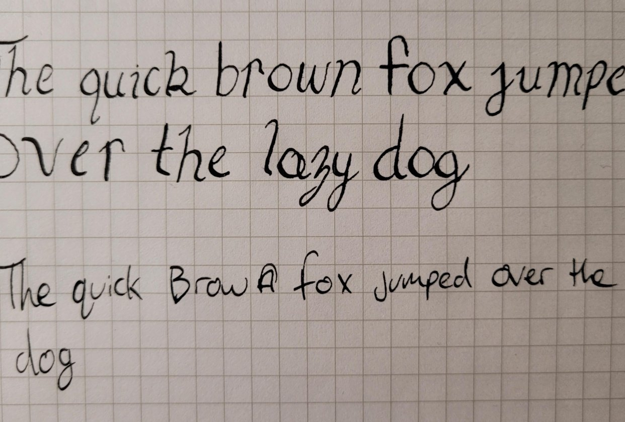 Pangram first try - student project