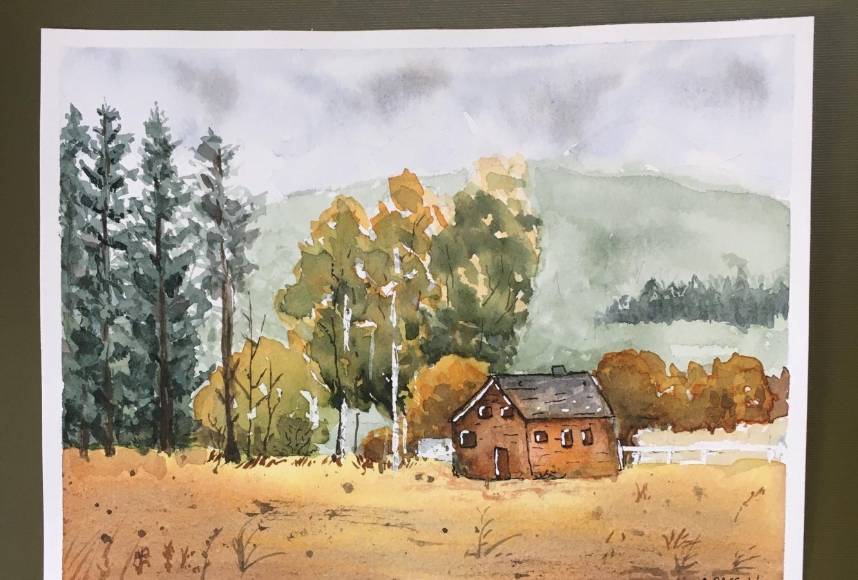 Landscape Watercolor - student project