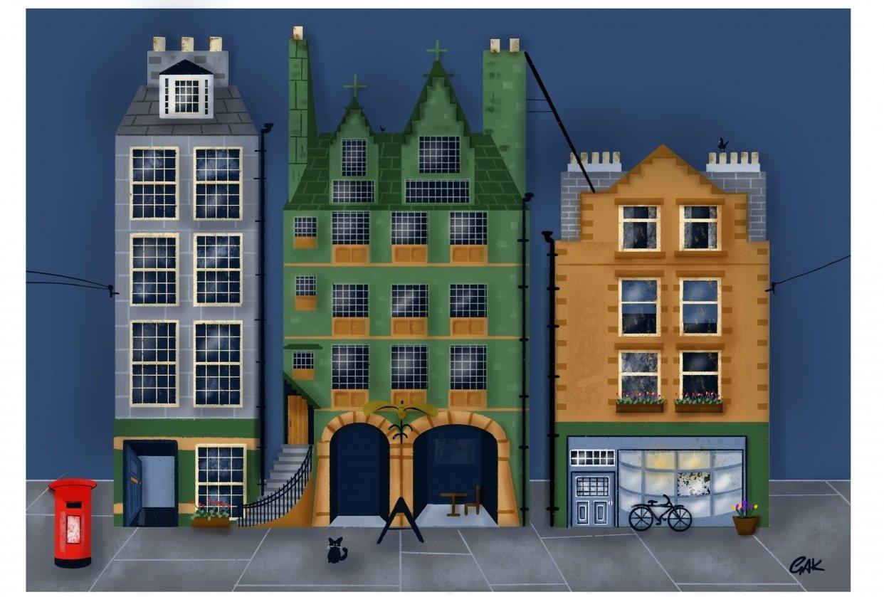 Edinburgh houses - student project