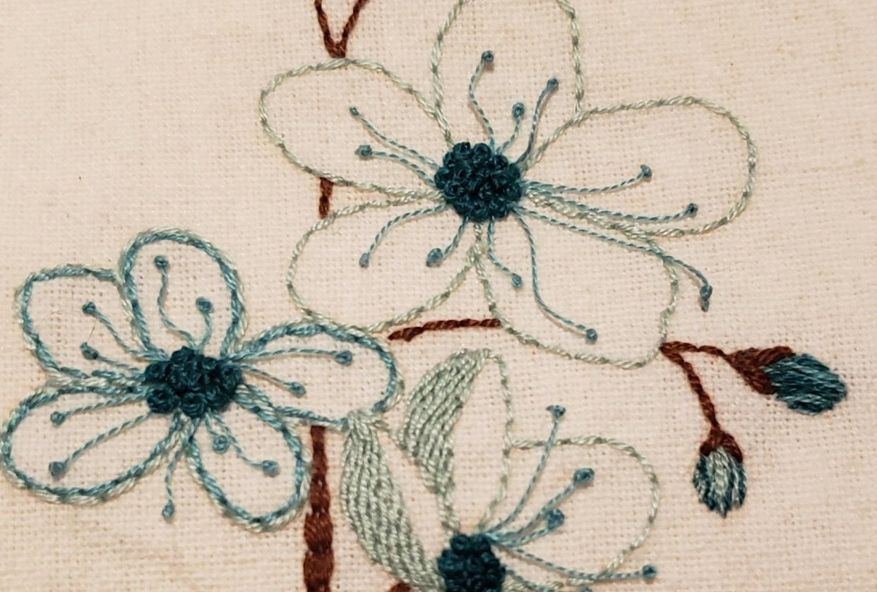 Embroidered Flowers - student project