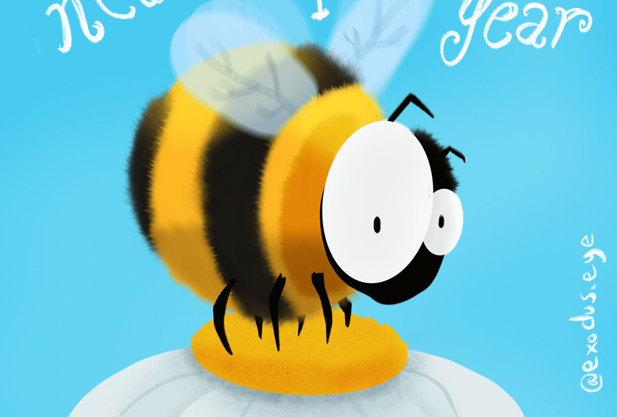 """Happy """"Buzzing"""" New Year! - student project"""