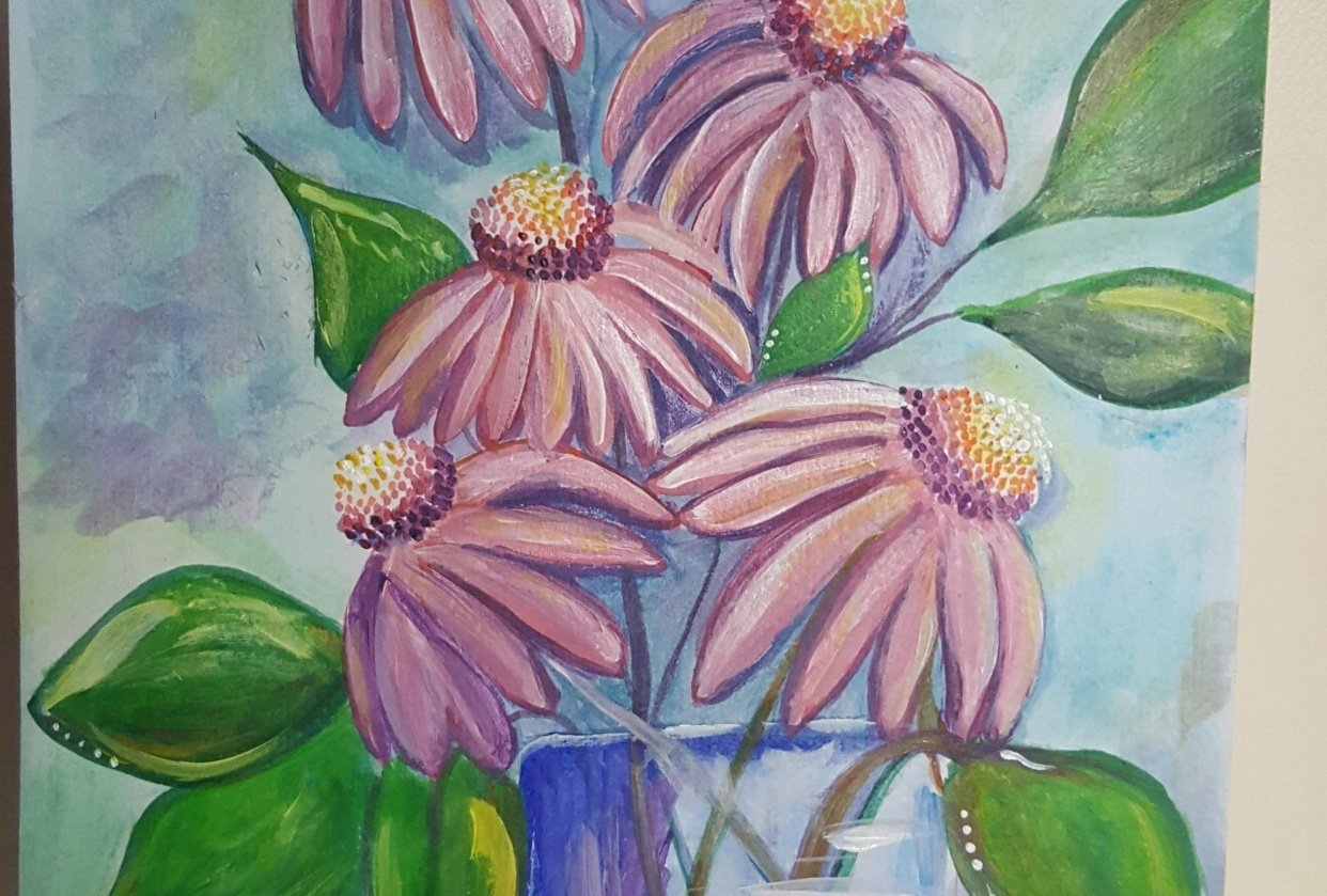 Echinacea flowers - student project