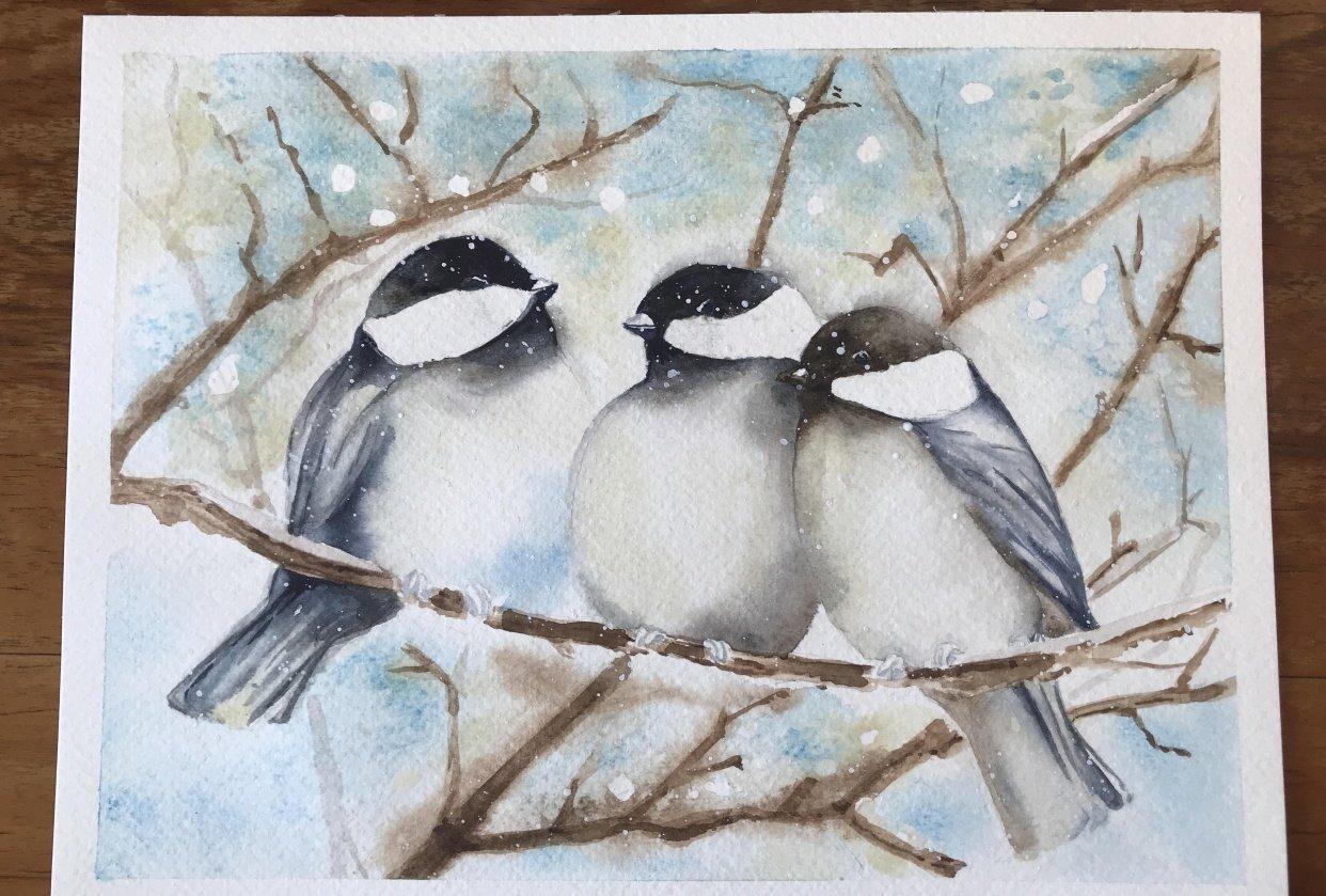 Three little birds outside my window - student project