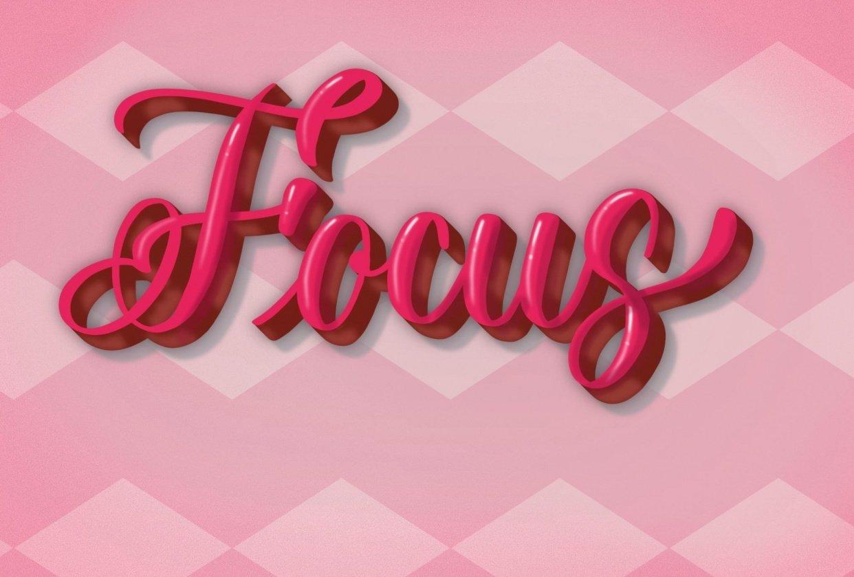 3D lettering - Focus - student project
