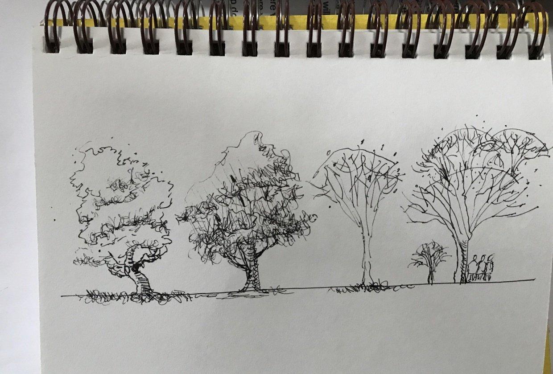 Jim Richards Urban Sketching Workshop - student project