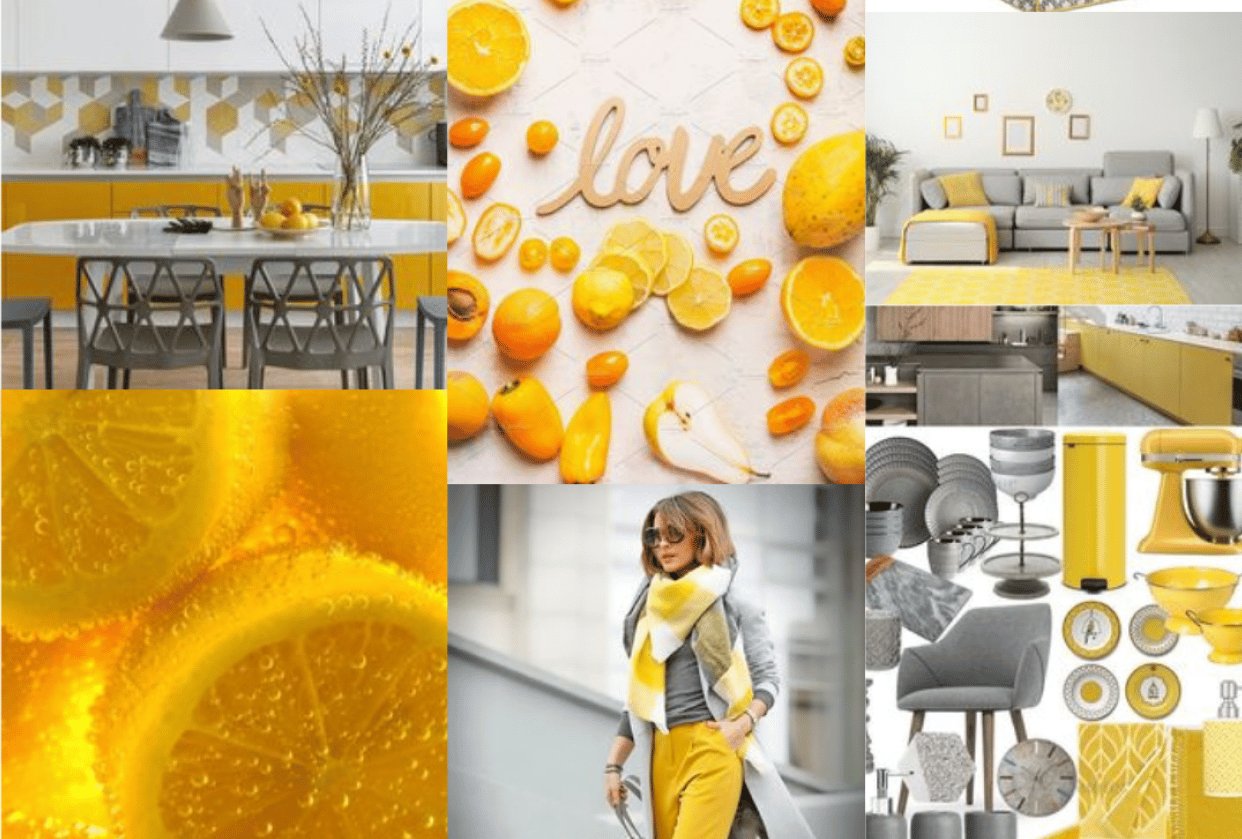 My moodboards pantone 2021 - student project