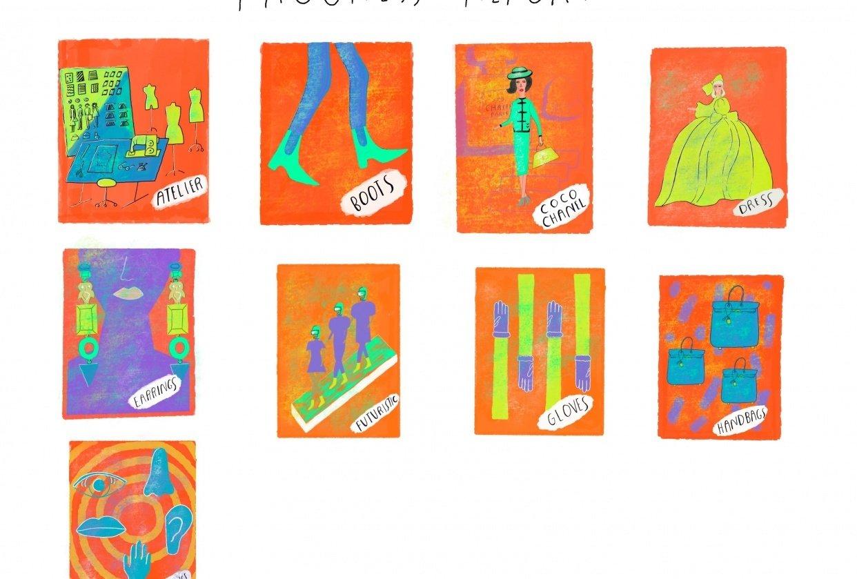 "Andrew Estrada ""The Alphabet of Fashion"" - student project"