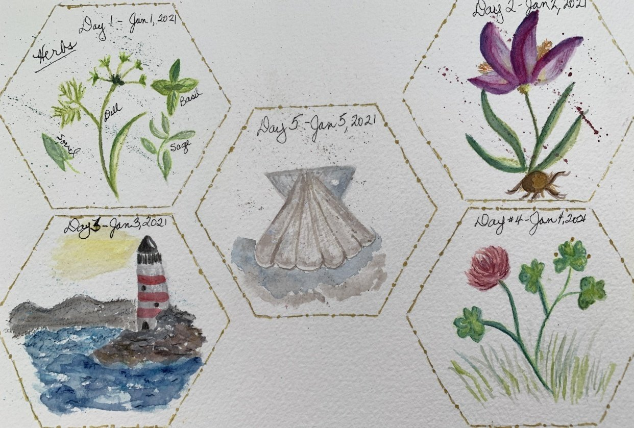 100 Day Watercolor Challenge - student project