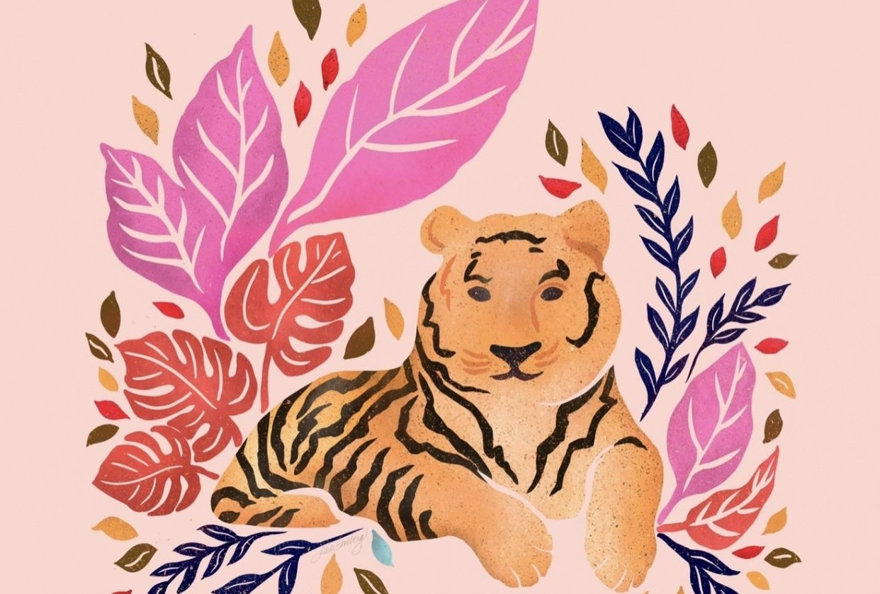 Tiger by Linda Sholberg - student project