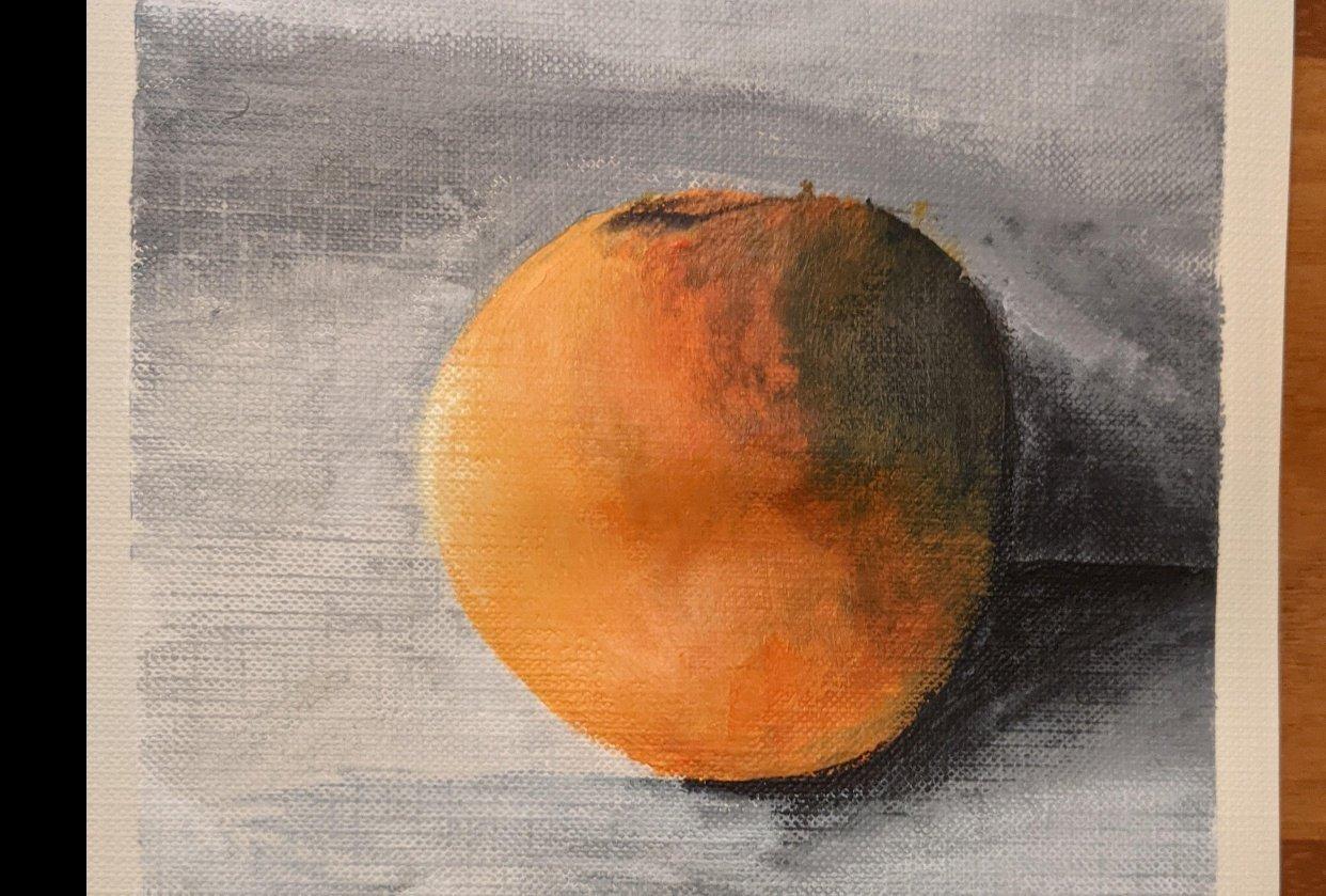Orange and Landscape - student project