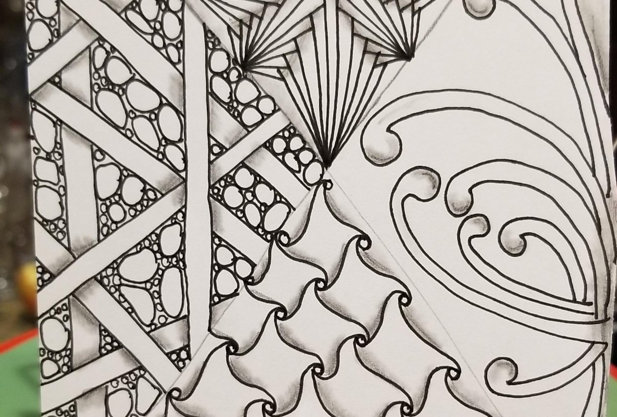 Beginning the year with zentangle - student project