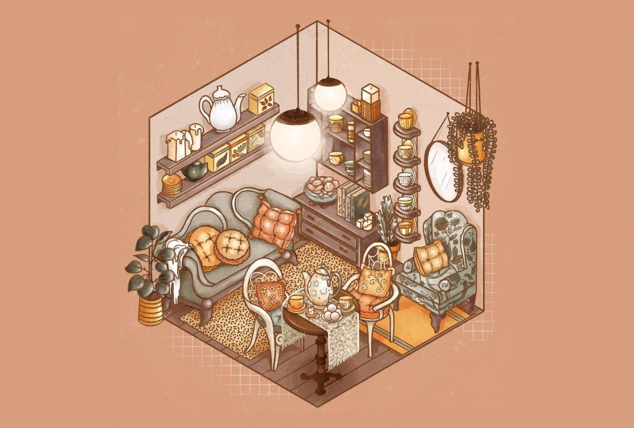 Cozy Tea Shop - student project