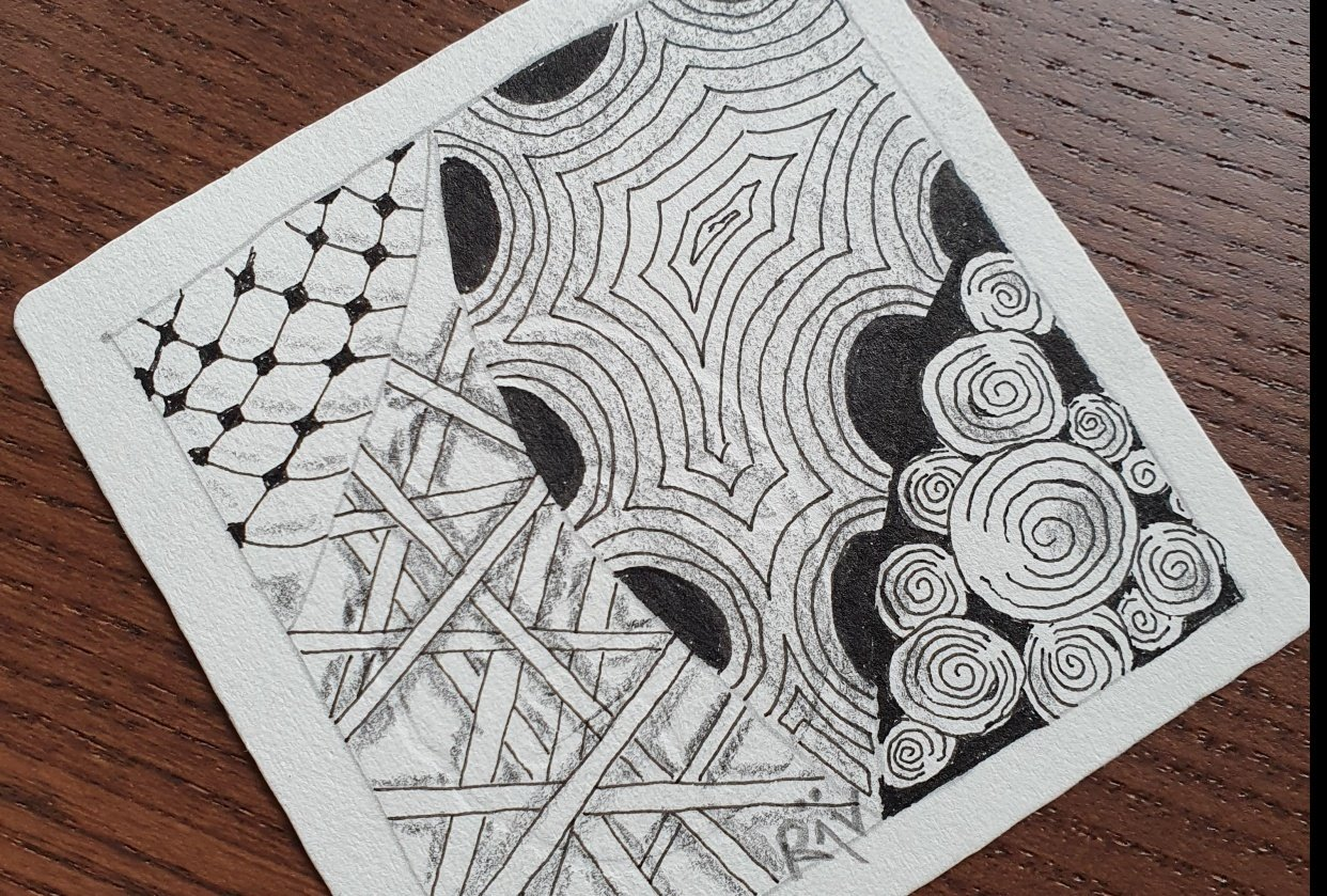 my firste Zentangle - student project