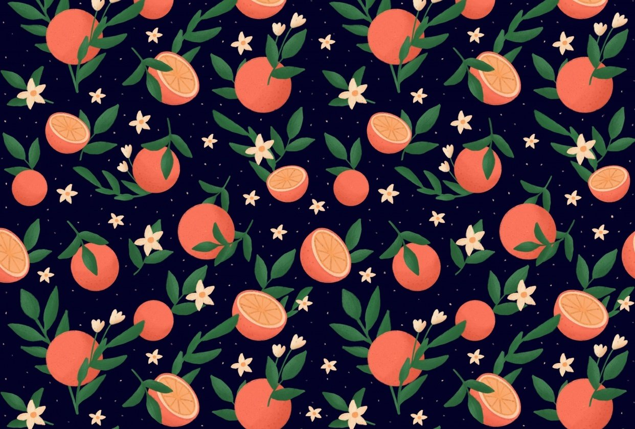 Pattern of oranges - student project