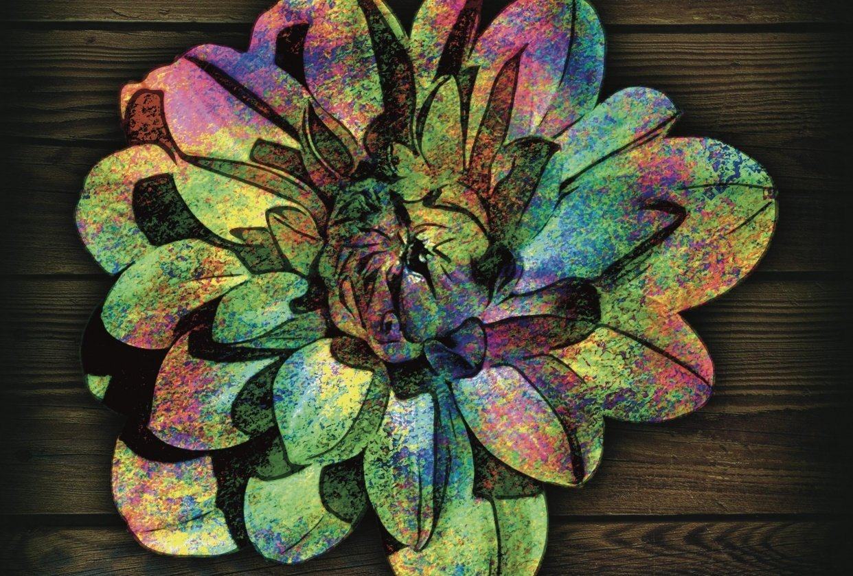 Digital art flower by Suzanne Krizman - student project