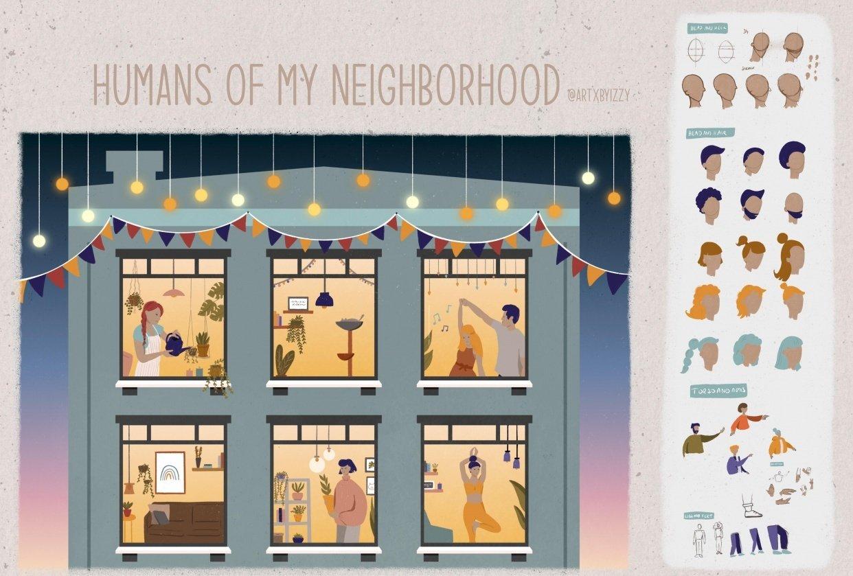 Humans of my neighborhood - student project