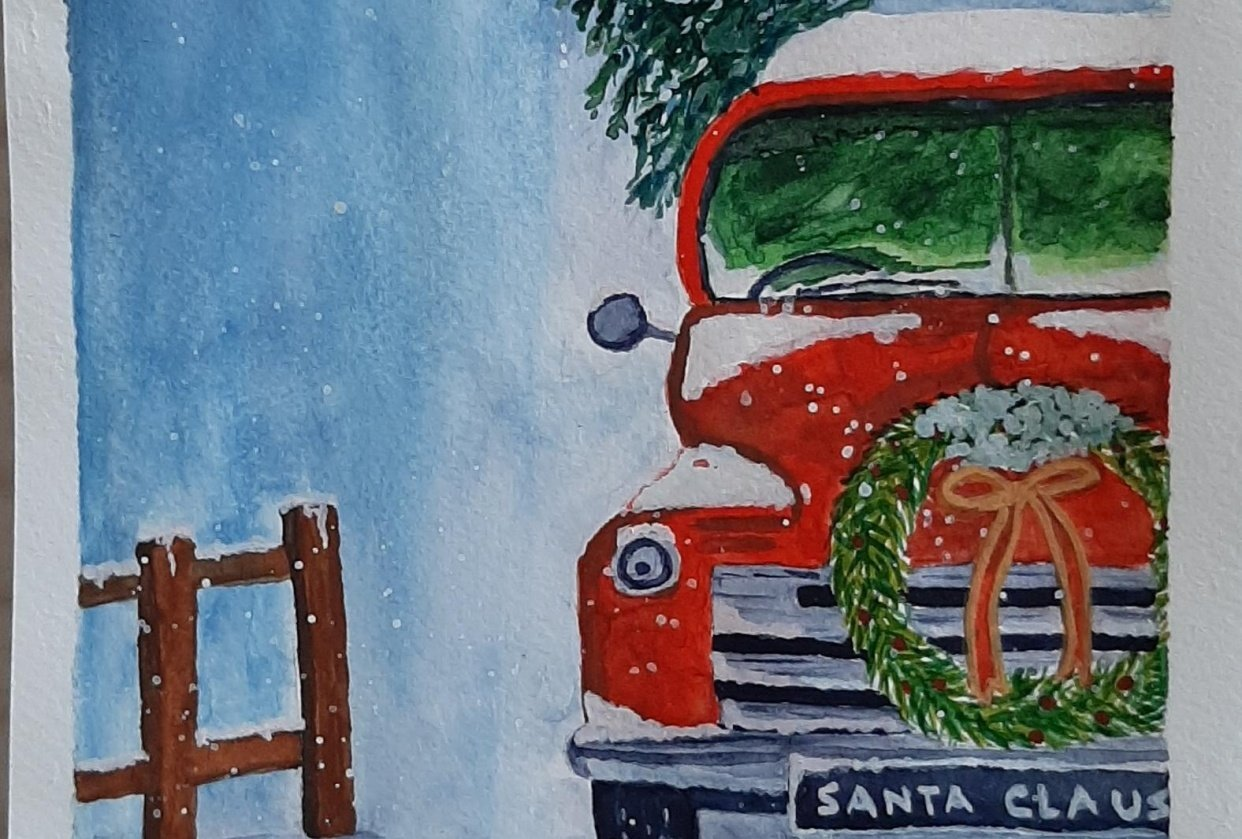 Christmas Paintings - student project