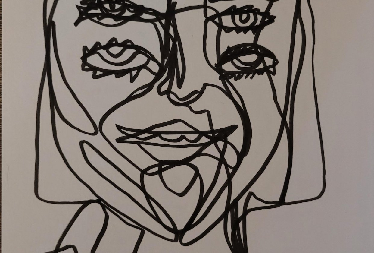 Continuous line drawing - student project