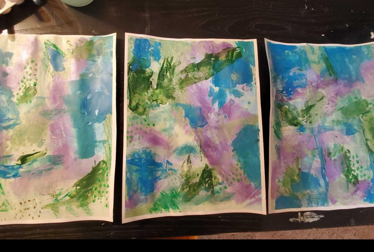 Modern Abstract Expressionism - student project