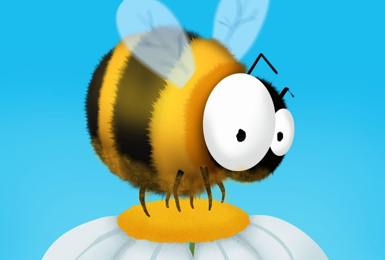 Bee Animation in Procreate - student project