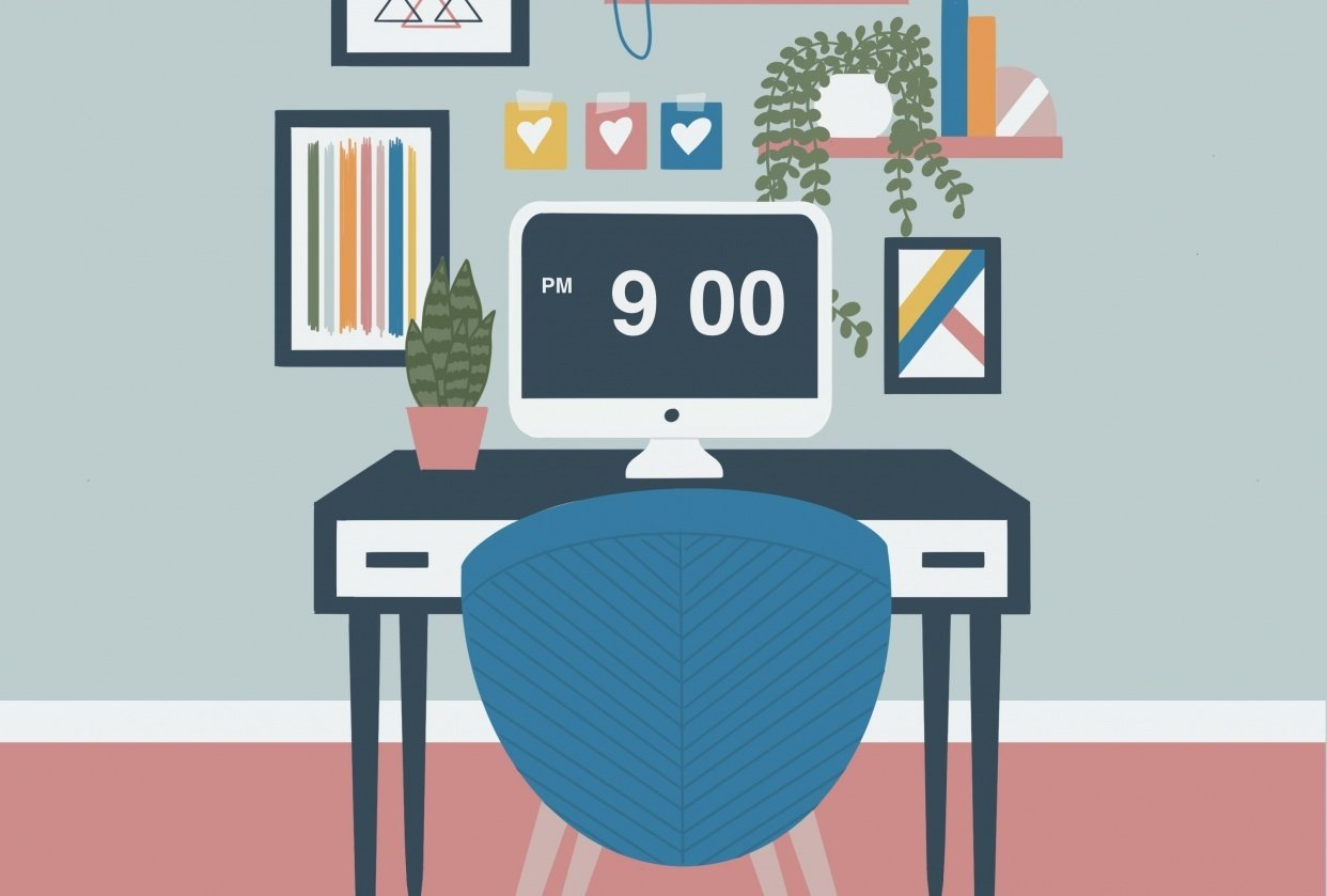 Office illustration - student project